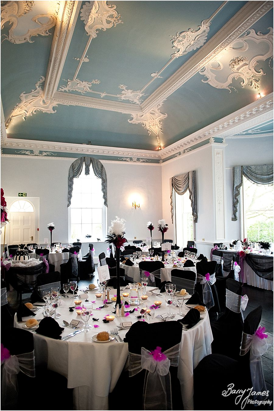 Wedding breakfast at Somerford Hall in Brewood by Wolverhampton Wedding Photographer Barry James