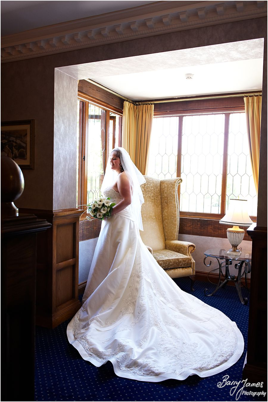 Creative and classical wedding photographer capturing weddings at The Moat House in Acton Trussell by Moat House Wedding Photographer Barry James