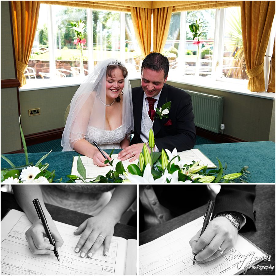 Creative wedding photographers at The Moat House in Acton Trussell by Venue Recommended Wedding Photographer Barry James