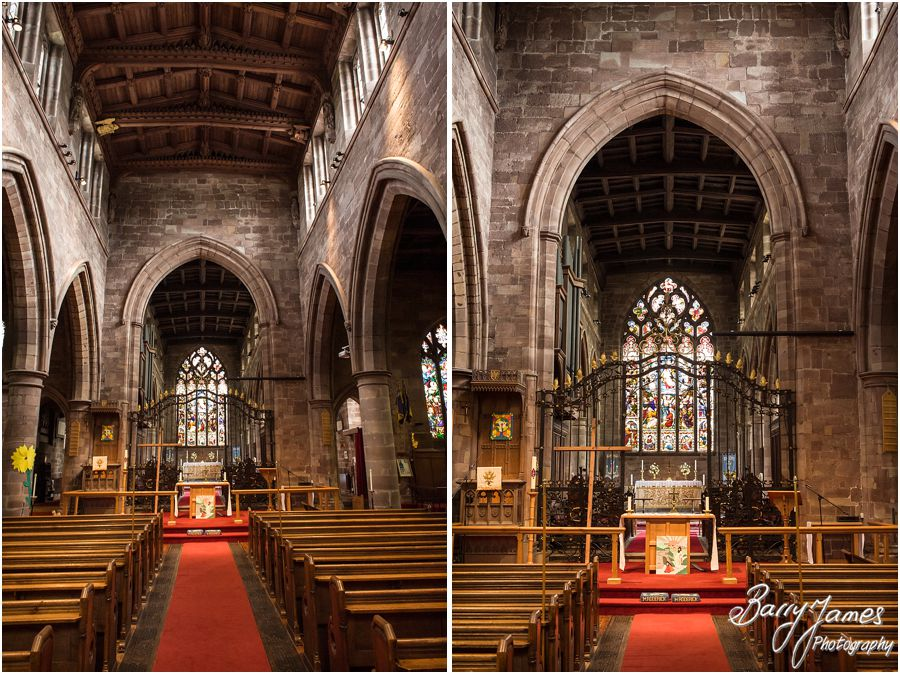Unobtrusive relaxed wedding photographs at St Michaels Church in Penkridge by Stafford Professional Wedding Photographer Barry James