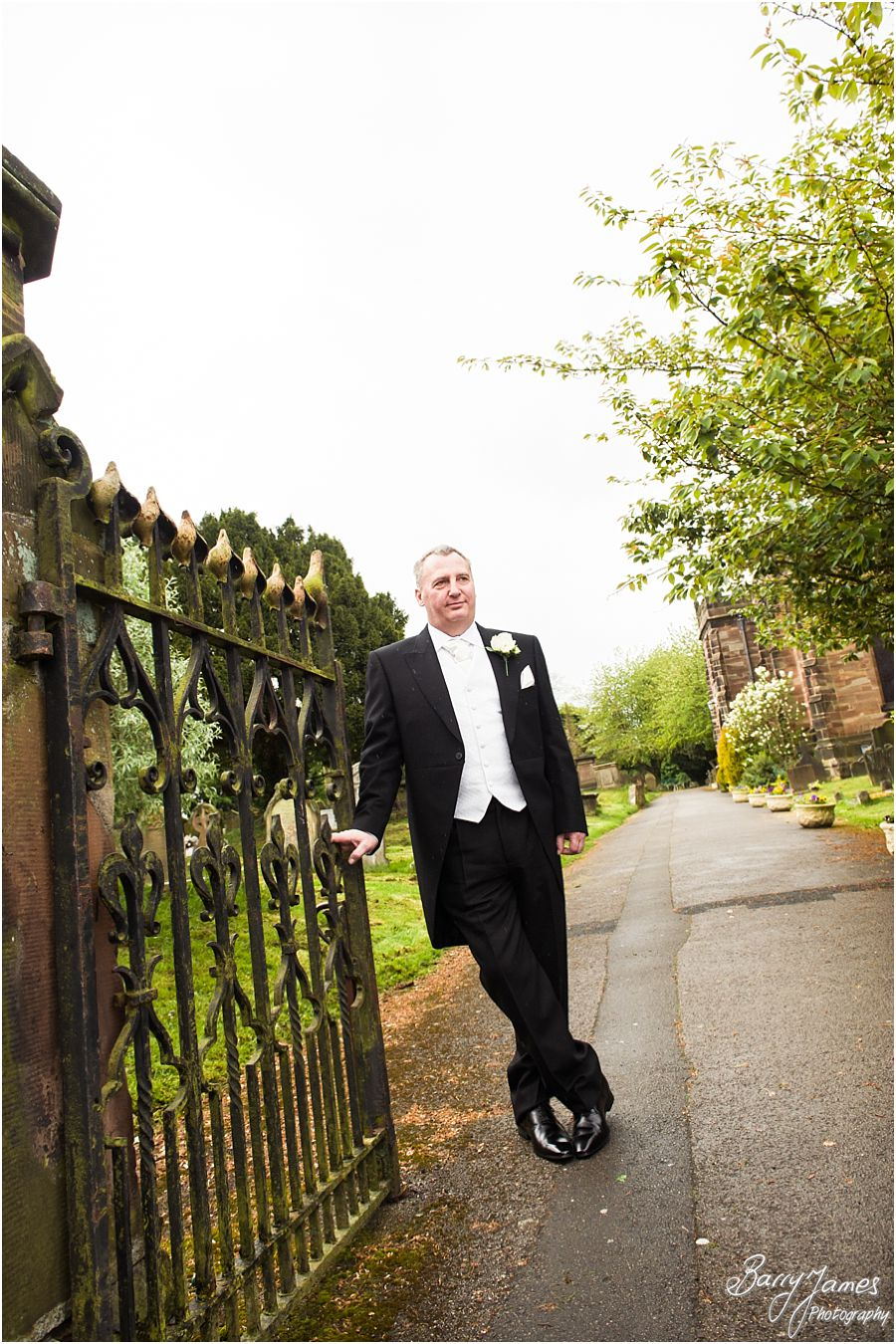 Unobtrusive, relaxed wedding photographs at St Michaels Church in Penkridge that tell the beautiful wedding story by Stafford Wedding Photographer Barry James