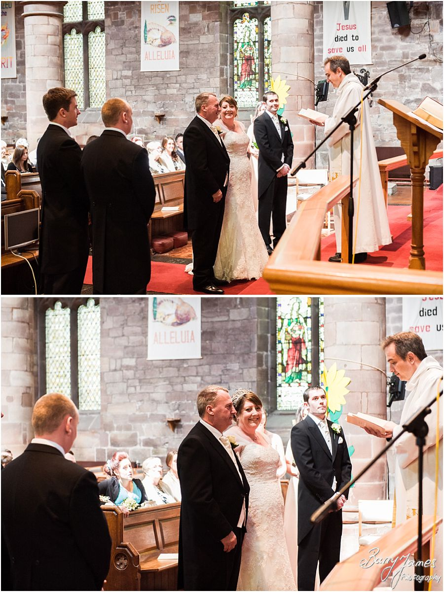 Creative timeless wedding photographs at St Michaels Church in Penkridge by Recommended Wedding Photographer Barry James