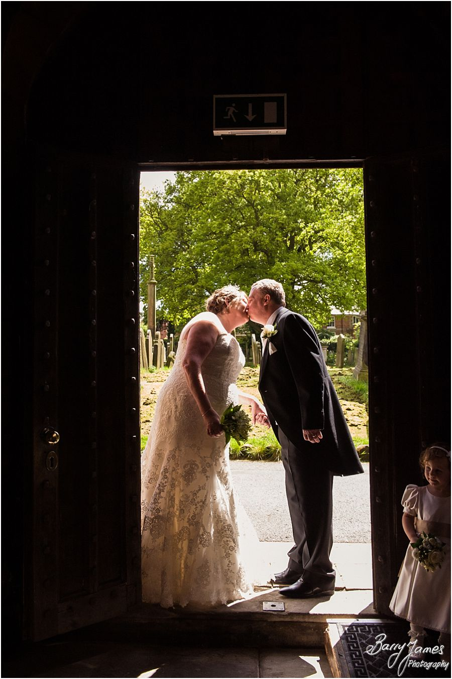 Wedding photographs at St Michaels Church in Penkridge by Stafford Wedding Photographer Barry James