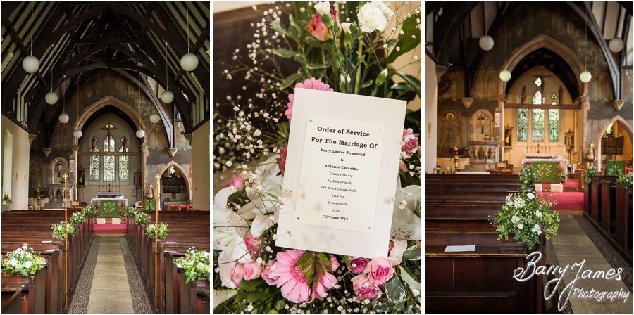 Capturing the beautiful wedding ceremony at Rushall Parish Church in Walsall by Creative and Contemporary Wedding Photographer Barry James