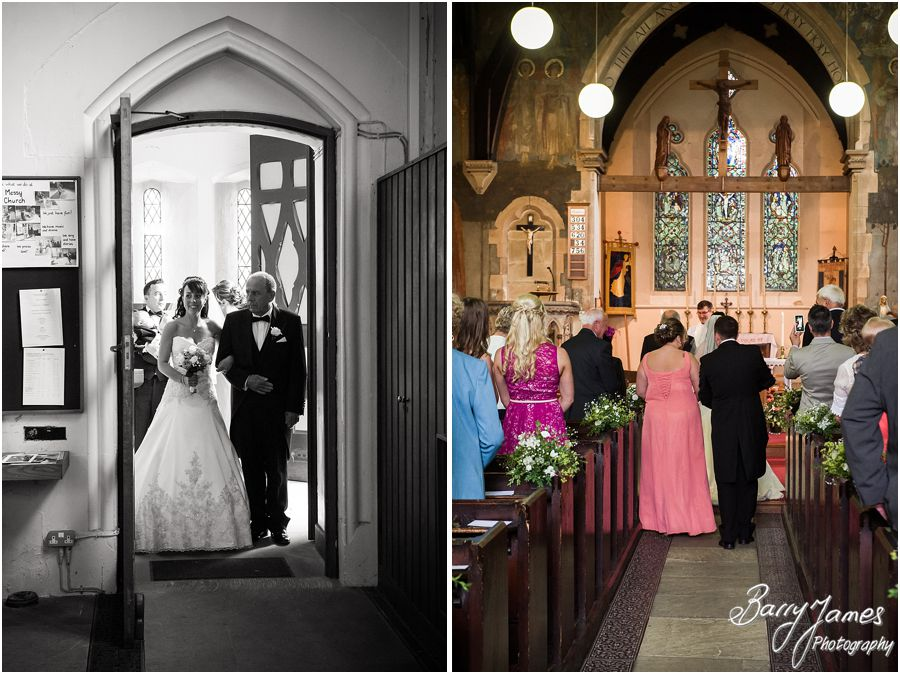 Creative unobtrusive wedding photography with candid moments at Rushall Parish Church in Walsall by Professional Wedding Photographer Barry James