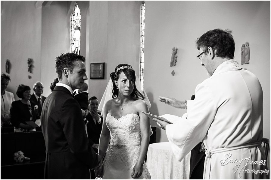 Wedding photography that tells the story of the beautiful ceremony at Rushall Parish Church in Walsall by Professional Wedding Photographer Barry James