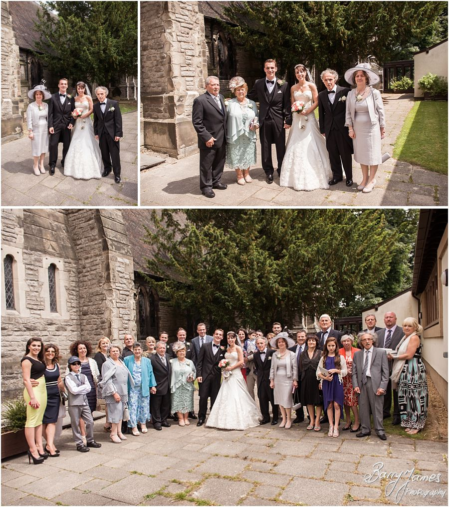 Storytelling creative wedding photography at Rushall Parish Church in Walsall by Contemporary Wedding Photographer Barry James