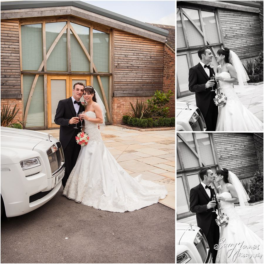Creative contemporary wedding photography that captures the wedding day perfectly at Mythe Barn in Atherstone, Warwickshire by Professional Wedding Photographer Barry James