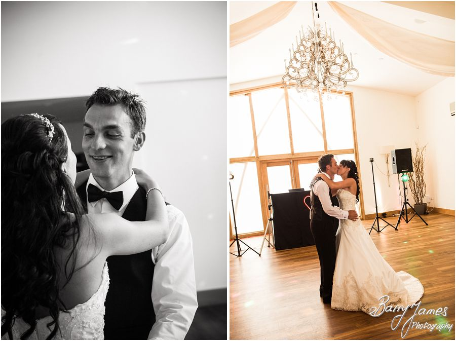 Creative first dance photography at Mythe Barn in Atherstone, Warwickshire by Warwickshire Wedding Photographer Barry James