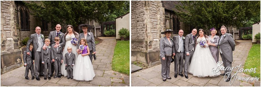 Beautiful storytelling wedding photography at Rushall Parish Church in Walsall by Professional Full Time Wedding Photographer Barry James