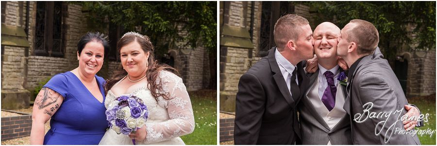 Recommended full time professional wedding photographer capturing wedding at Rushall Parish Church in Walsall by Walsall Wedding Photographer Barry James