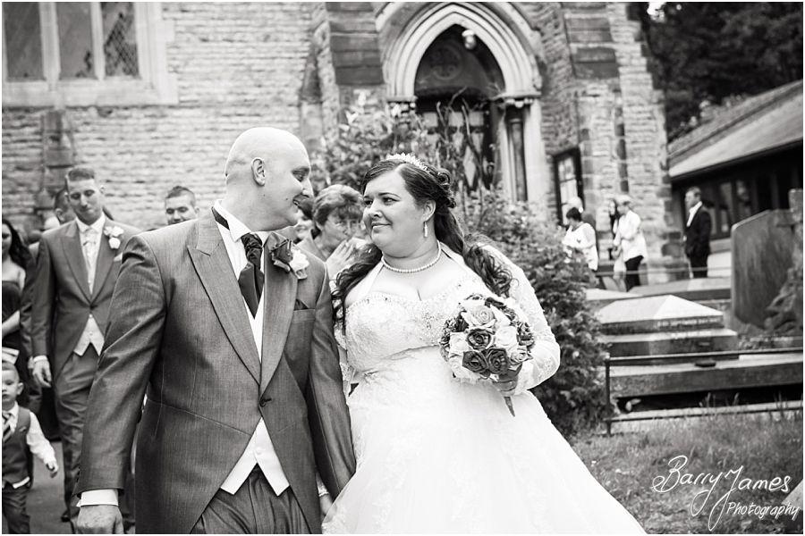 Gorgeous wedding photographs at Rushall Parish Church in Walsall by Walsall Wedding Photographer Barry James