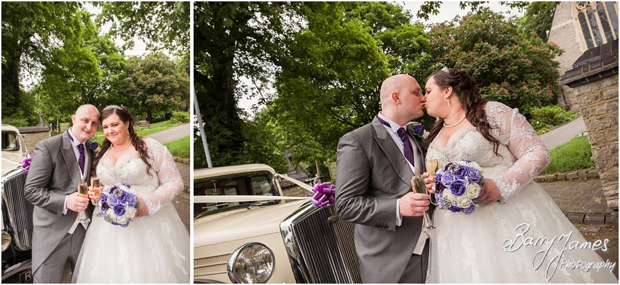 Creative contemporary wedding photography at Rushall Parish Church in Walsall by Walsall Wedding Photographer Barry James