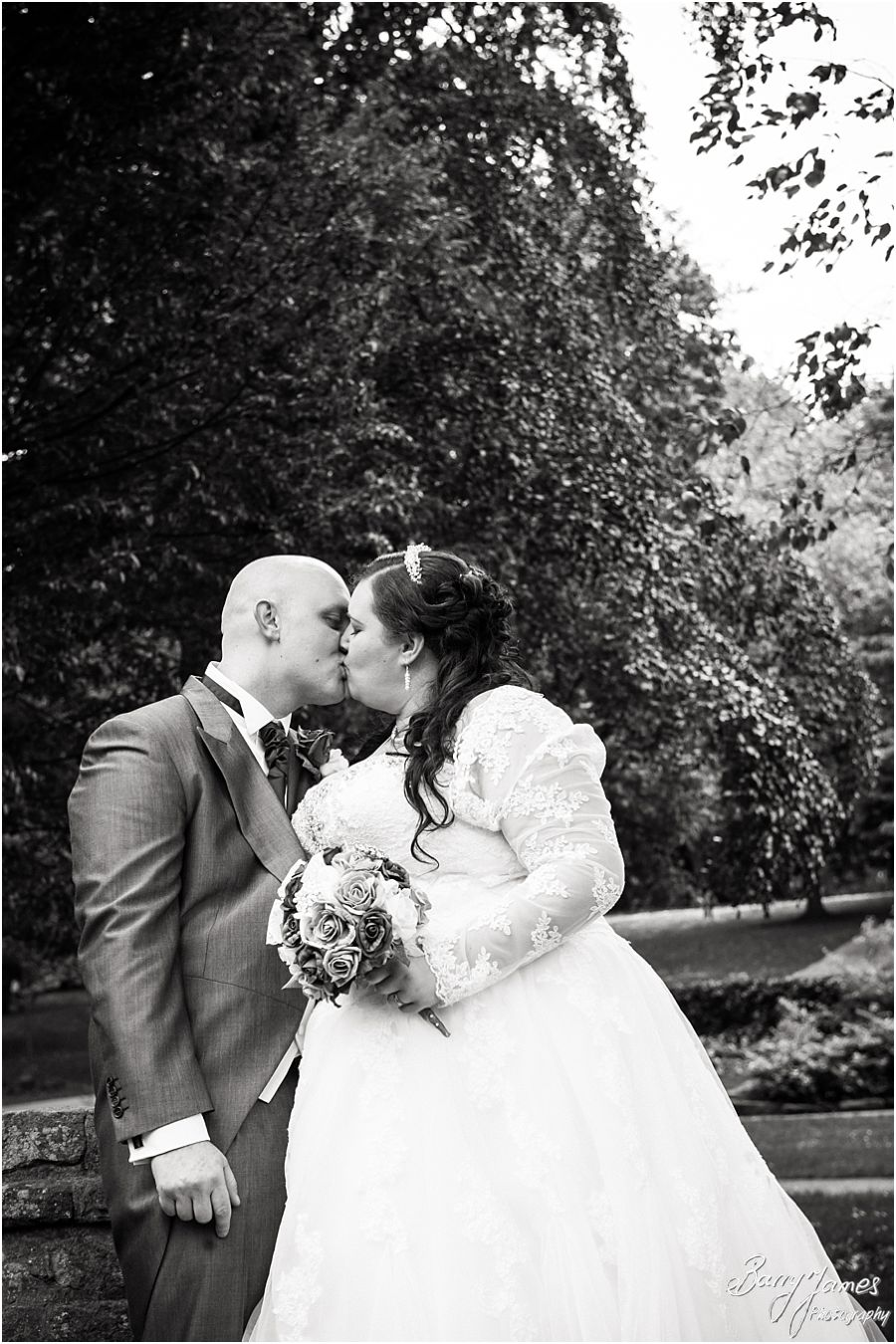 Beautiful wedding photography at Walsall Arboretum in Walsall by Professional Full Time Wedding Photographer Barry James