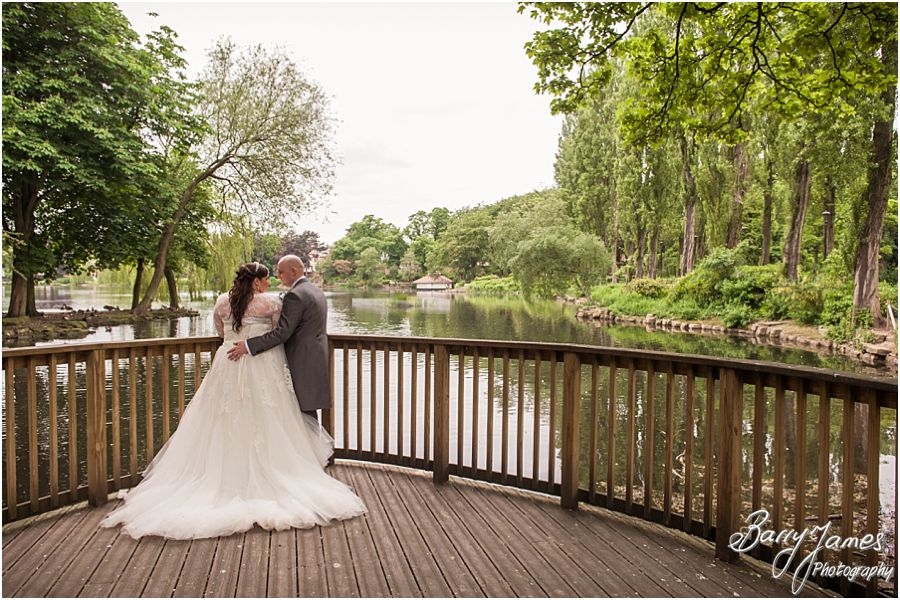 Creative and contemporary wedding photography at Walsall Arboretum in Walsall by Award Winning Wedding Photographer Barry James