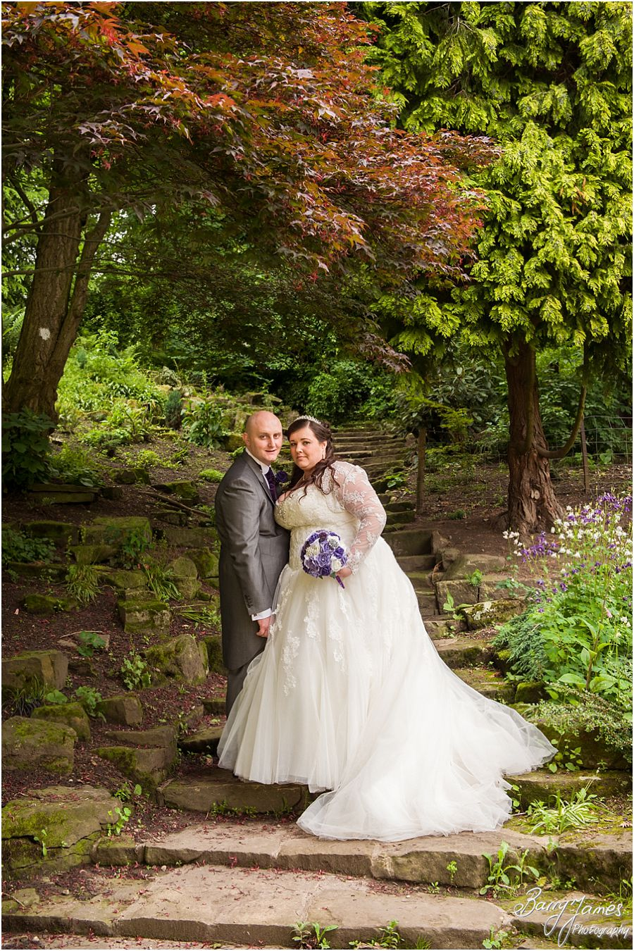 Modern stunning wedding photography in Walsall Arboretum in Walsall by Contemporary and Creative Wedding Photographer Barry James