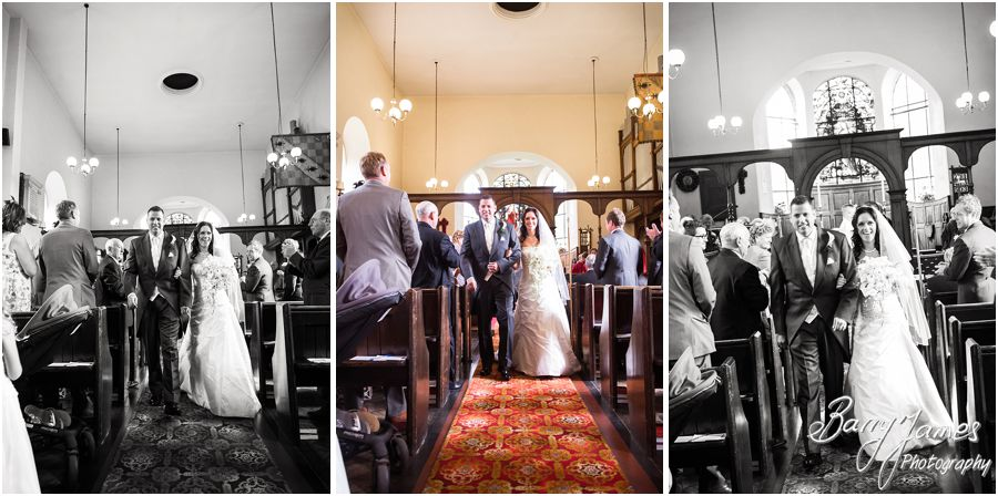 Contemporary and creative storytelling wedding photographs at Himley Church in Dudley by Staffordshire Wedding Photographer Barry James