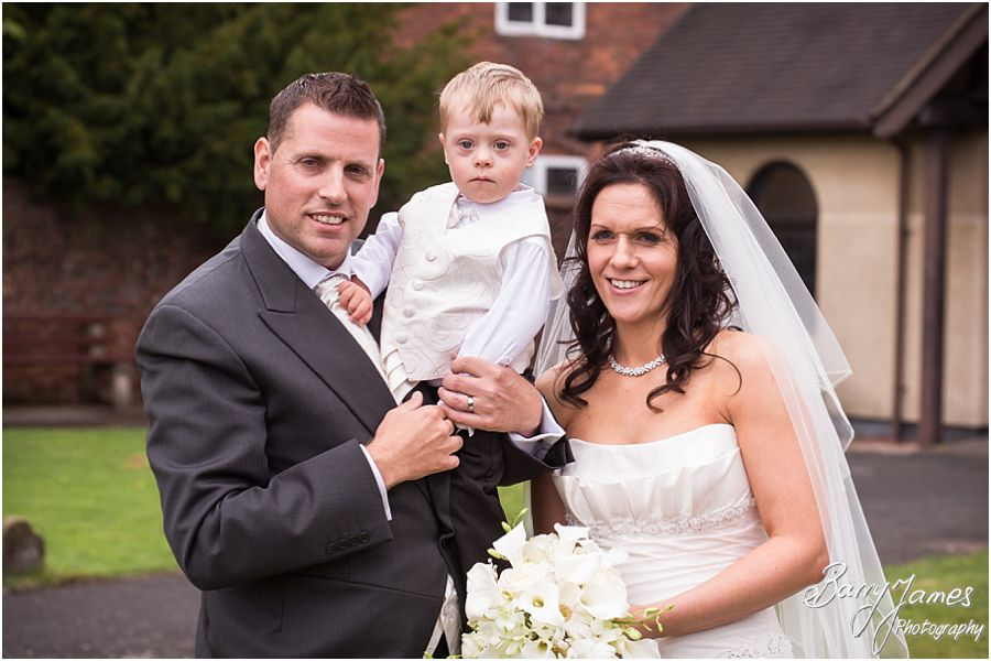 Stunning wedding photography at Himley Church in Dudley by Staffordshire Wedding Photographer Barry James