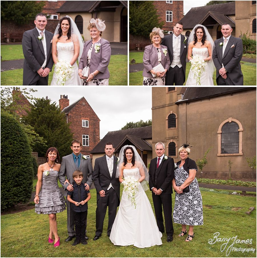 Creative wedding photography at Himley Church in Dudley by Staffordshire Wedding Photographer Barry James