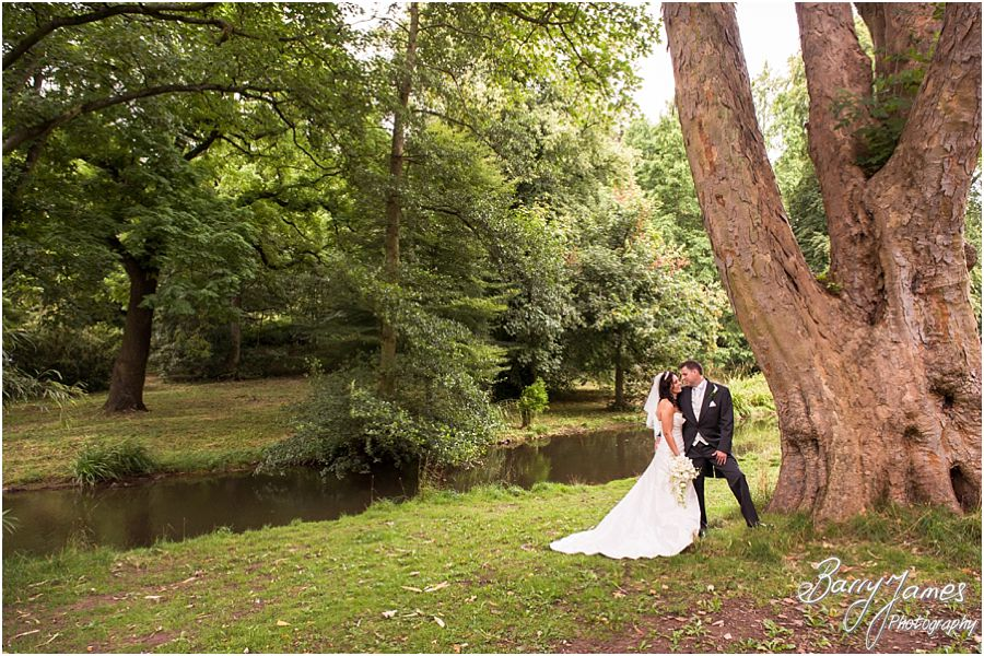 Elegant portraits of Bride and Groom at Himley Park in Dudley by Staffordshire Wedding Photographer Barry James