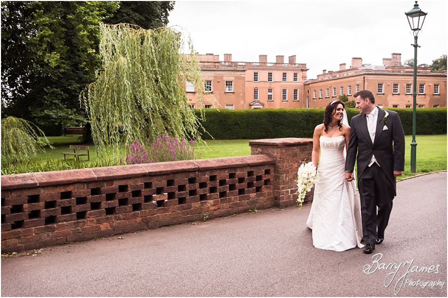 Intimate and contemporary portraits of Bride and Groom at Himley Park in Dudley by Staffordshire Wedding Photographer Barry James