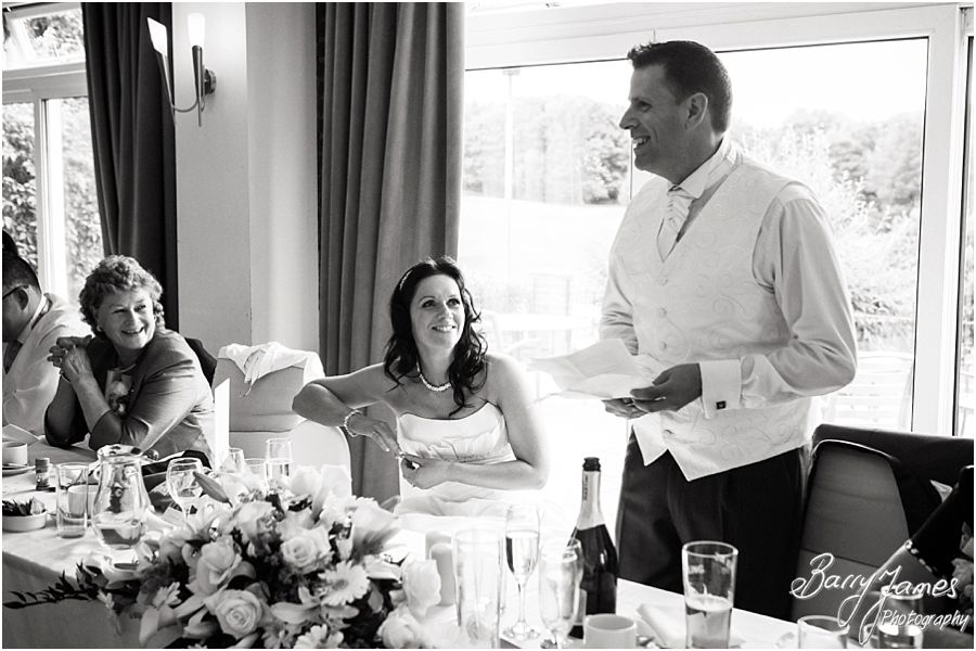 Relaxed storytelling wedding photographs at Swindon Golf Club in Dudley by Staffordshire Wedding Photographer Barry James