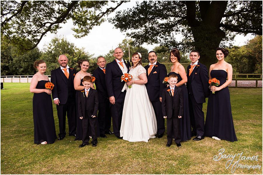 Contemporary and candid wedding photographs at Oak Farm in Cannock by Professional Wedding Photographer Barry James