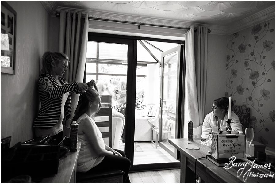 Candid photos that capture the preparations of the wedding morning at Rodbaston Hall in Penkridge by Penkridge Wedding Photographer Barry James
