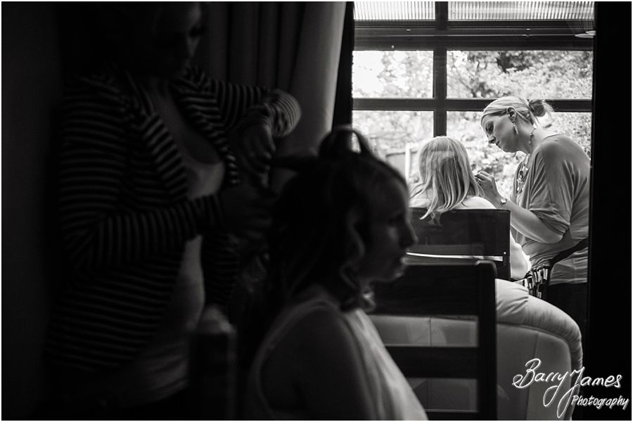 Excitement and drama of the wedding morning captured at Rodbaston Hall in Penkridge by Penkridge Wedding Photographer Barry James