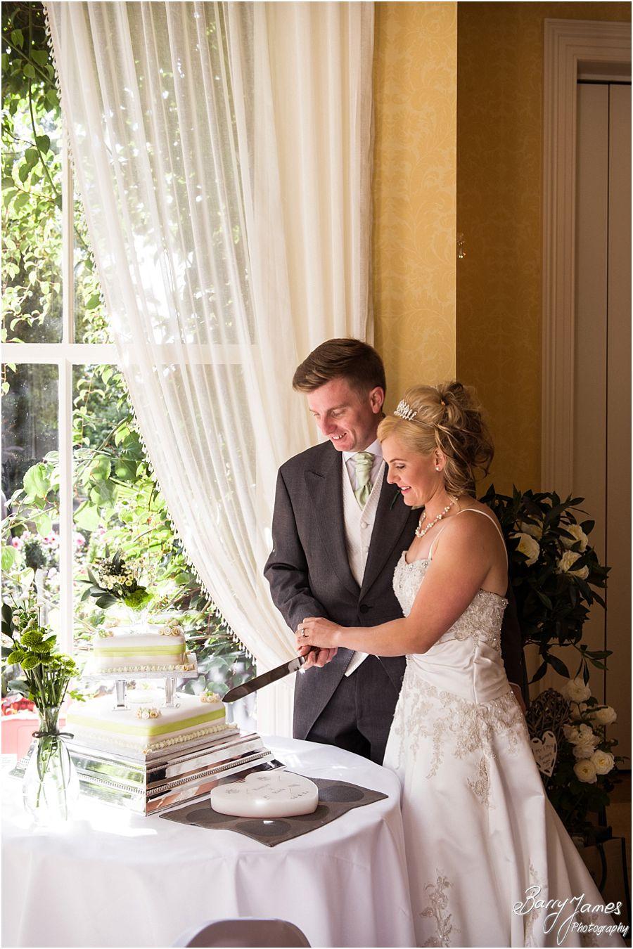 Beautiful room for wedding breakfast at Rodbaston Hall in Penkridge by Cannock Wedding Photographer Barry James