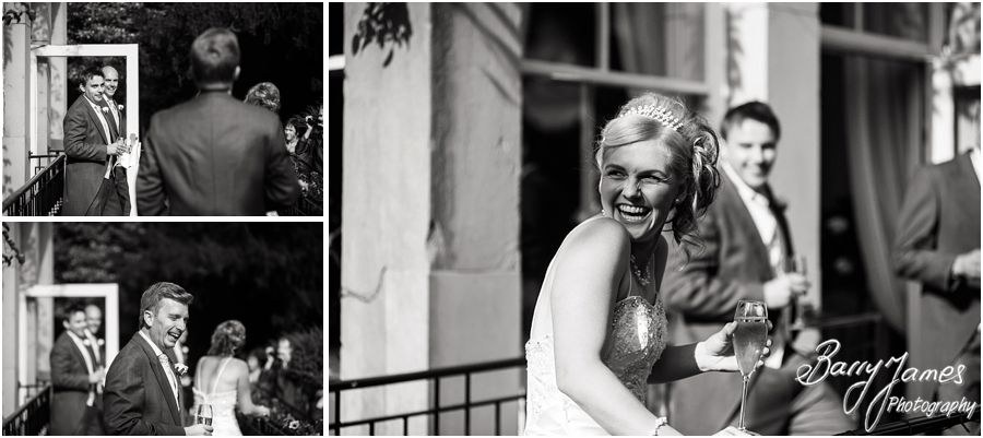 Fun and expressive wedding photography at Rodbaston Hall in Penkridge by Stafford Wedding Photographer Barry James