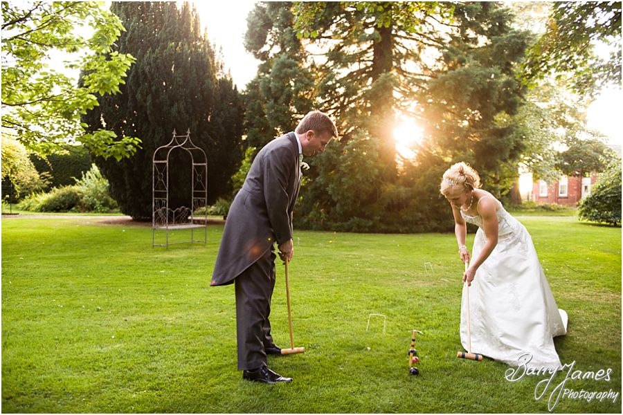 Beautiful evening portraits at Rodbaston Hall in Penkridge by Stafford Wedding Photographer Barry James