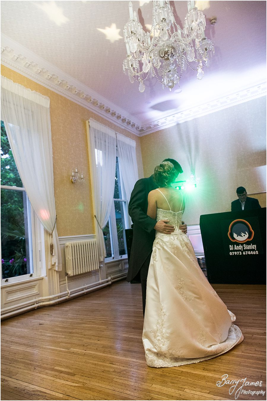 The first dance captured beautifully at Rodbaston Hall in Penkridge by Stafford Wedding Photographer Barry James