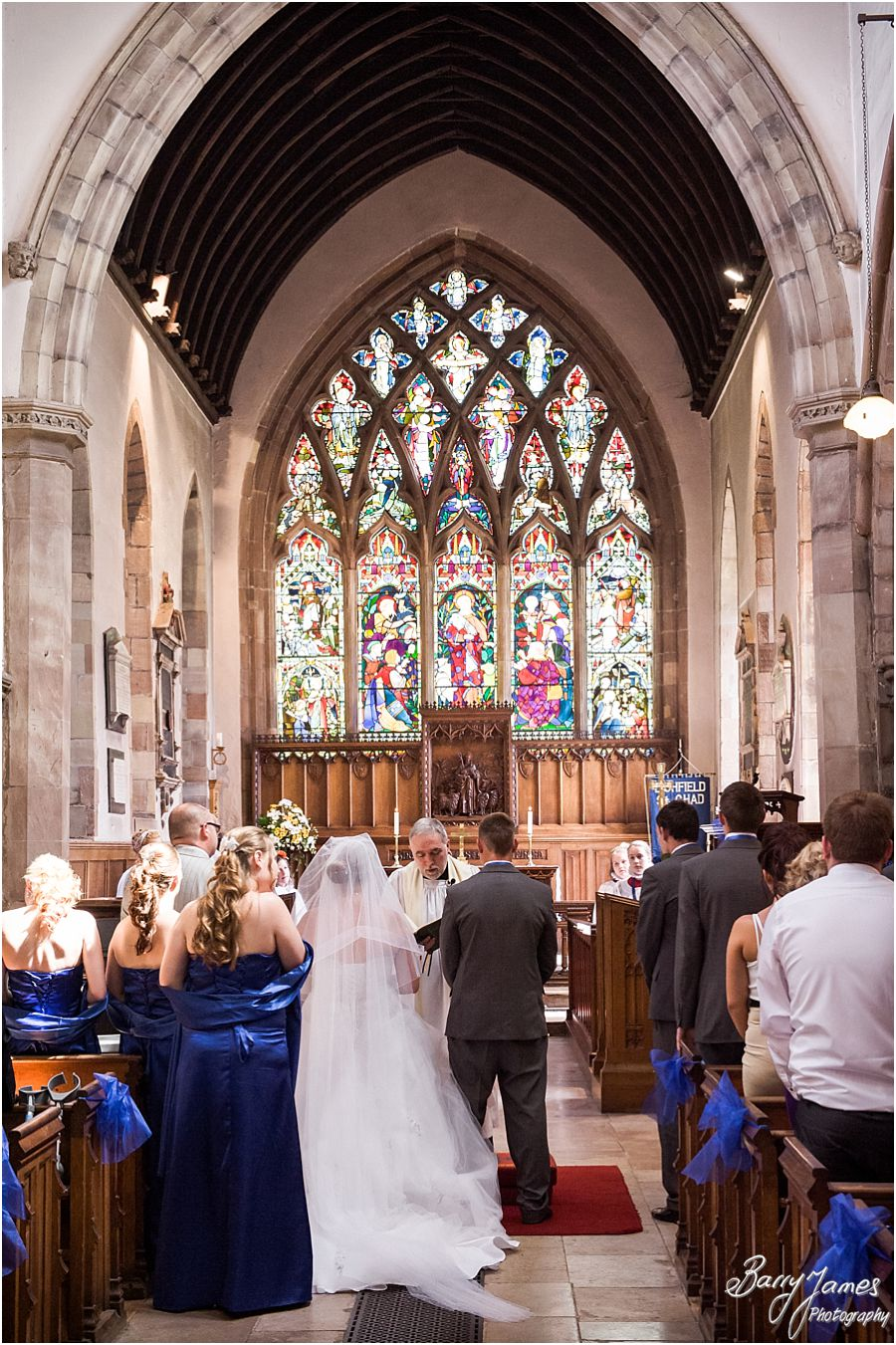 Creating timeless wedding photographs at St Chads Church in Lichfield by Contemporary and Creative Wedding Photographer Barry James