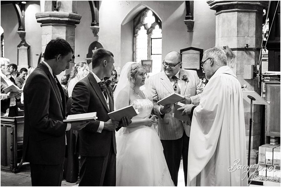 Natural wedding photographs at St Chads Church in Lichfield by Lichfield Wedding Photographer Barry James