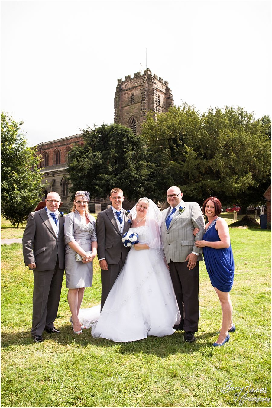 Gorgeous wedding photographs at St Chads Church in Lichfield by Lichfield Wedding Photographer Barry James