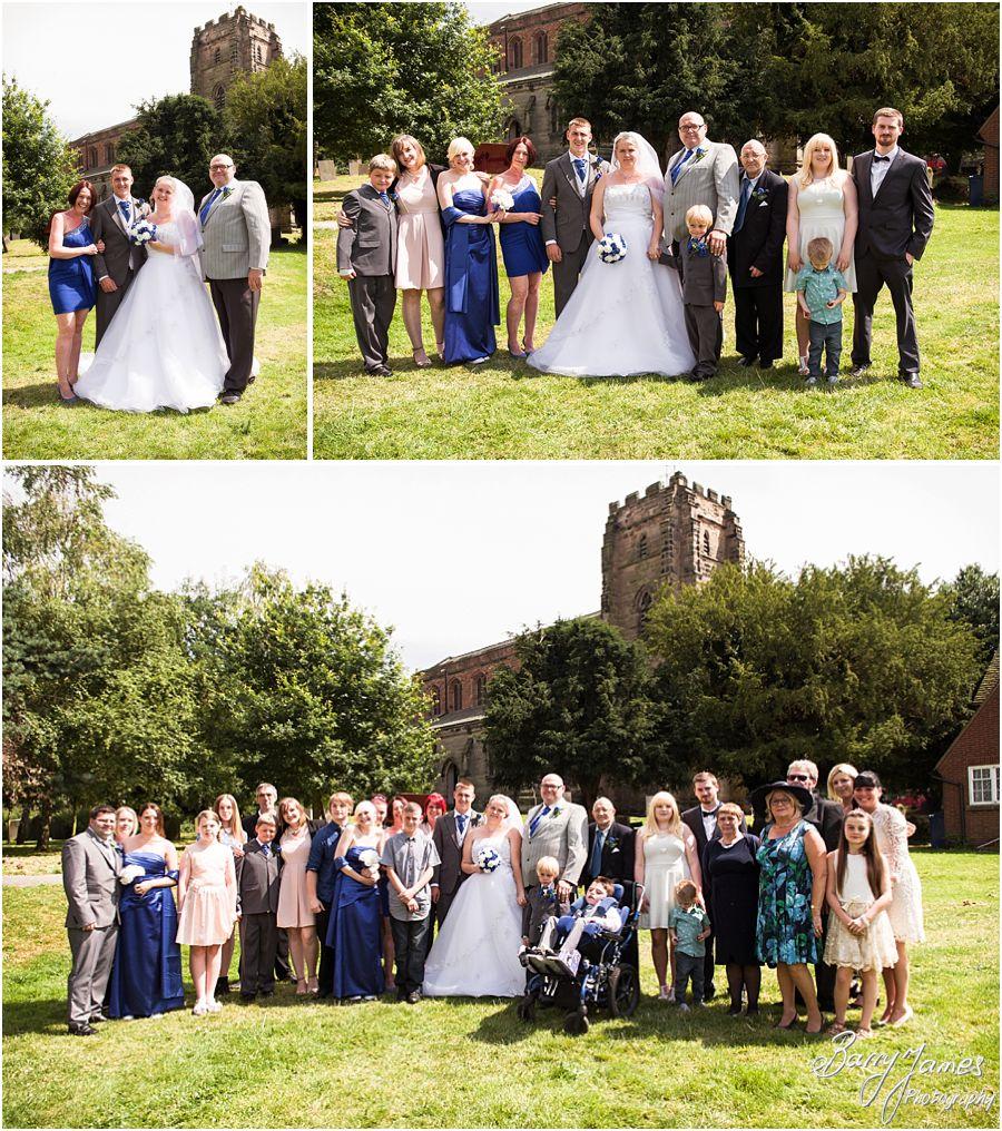 Creative contemporary wedding photographs at St Chads Church in Lichfield by Lichfield Wedding Photographer Barry James