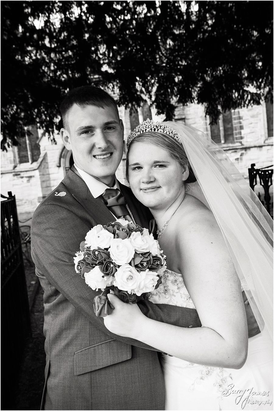 Candid and contemporary wedding photographs that tell the beautiful wedding story at St Chads Church in Lichfield by Lichfield Wedding Photographer Barry James