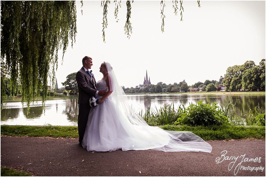 Creative and contemporary wedding photos at St Chads Church in Lichfield by Full Time Professional Wedding Photographer Barry James