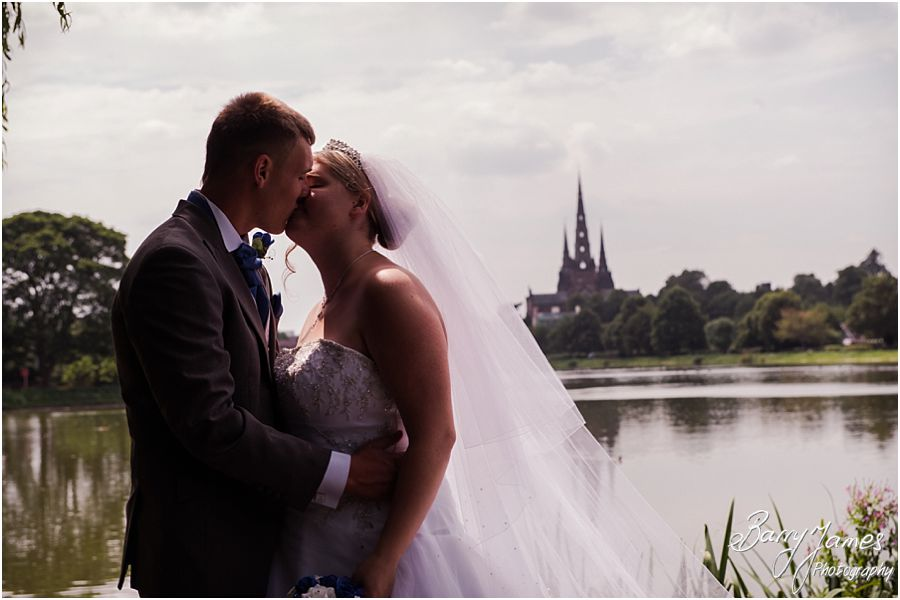 Traditional and creative wedding photographs for gorgeous young couple at St Chads Church in Lichfield by Full Time Experienced Wedding Photographer Barry James