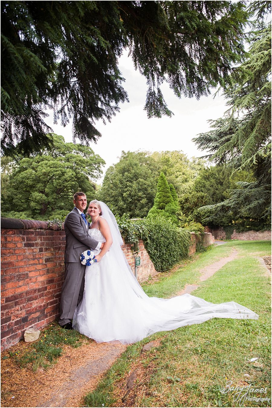Natural wedding photographs at St Chads Church in Lichfield by Recommended Lichfield Wedding Photographer Barry James
