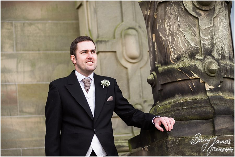 Contemporary relaxed portraits of Grooms party before wedding at Sandon Hall in Stafford by Stafford Contemporary Wedding Photographer Barry James