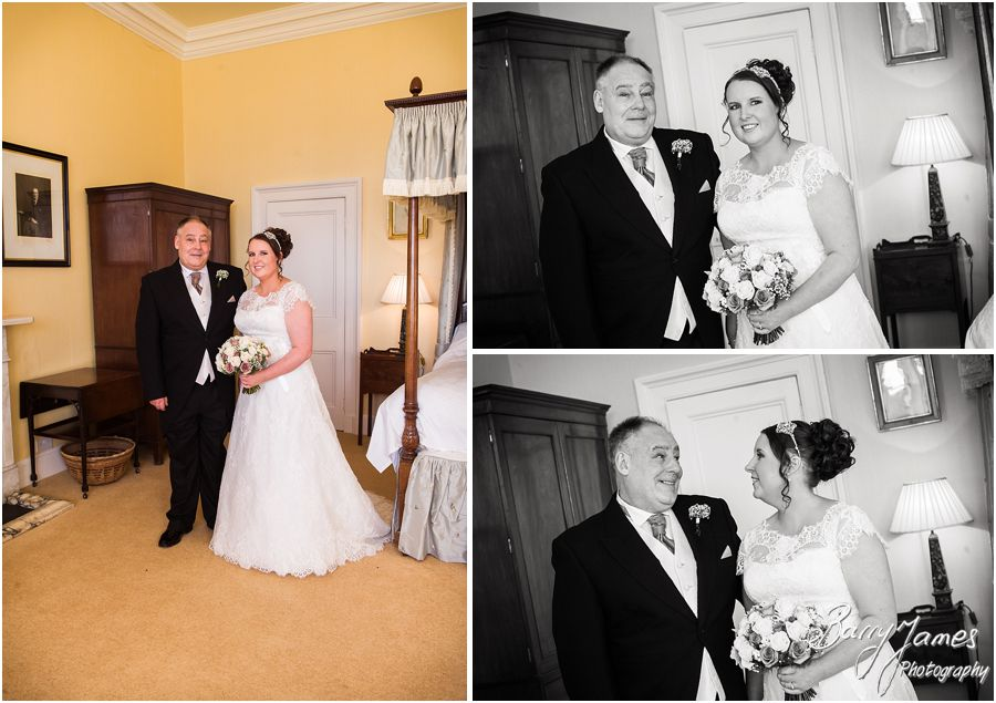 Beautiful relaxed photography of the wedding morning at Sandon Hall in Stafford by Stafford Contemporary Candid Wedding Photographer Barry James