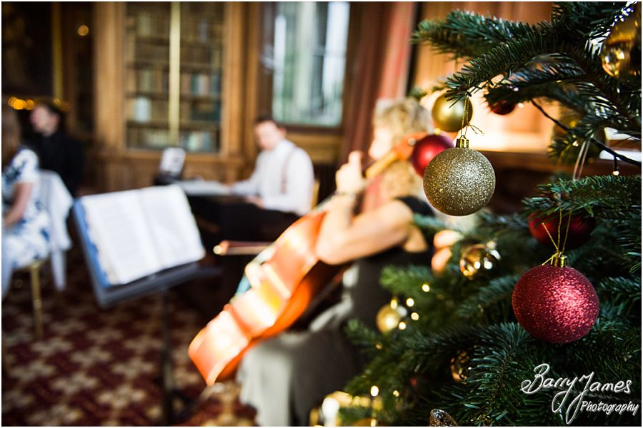Christmas wedding at Sandon Hall in Stafford by Stafford Contemporary Candid Wedding Photographer Barry James