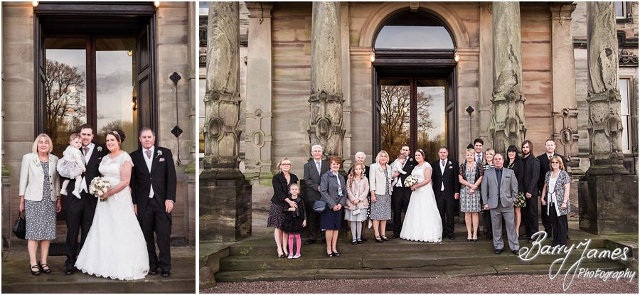 Beautiful family photos during the wedding reception at Sandon Hall in Stafford by Stafford Contemporary Wedding Photographer Barry James