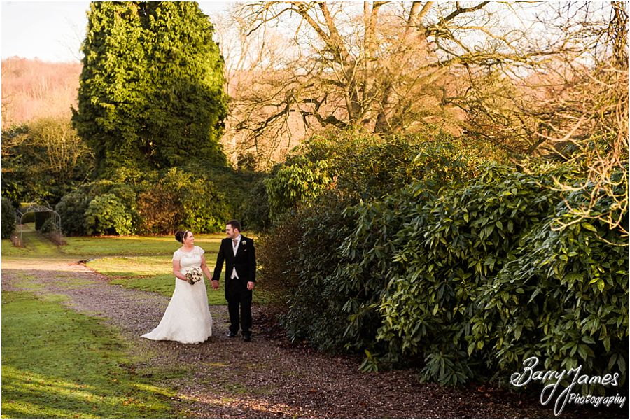 Stunning timeless portraits during the golden light hour in the grounds of Sandon Hall in Stafford by Full Time Professional Wedding Photographer Barry James