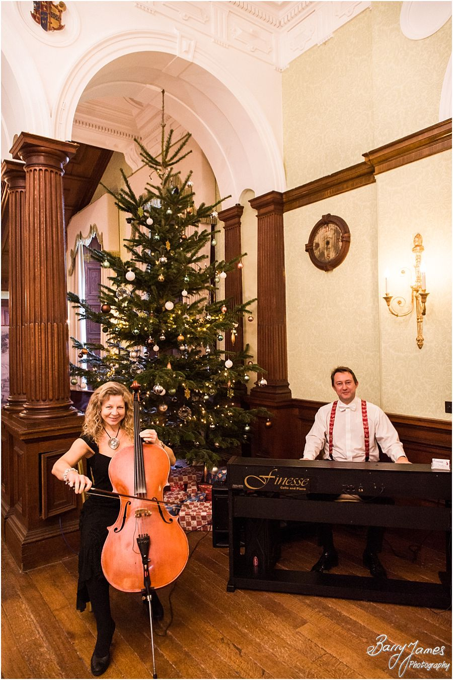 Finesse Piano and Cello at Sandon Hall in Stafford by Stafford Recommended Wedding Photographer Barry James