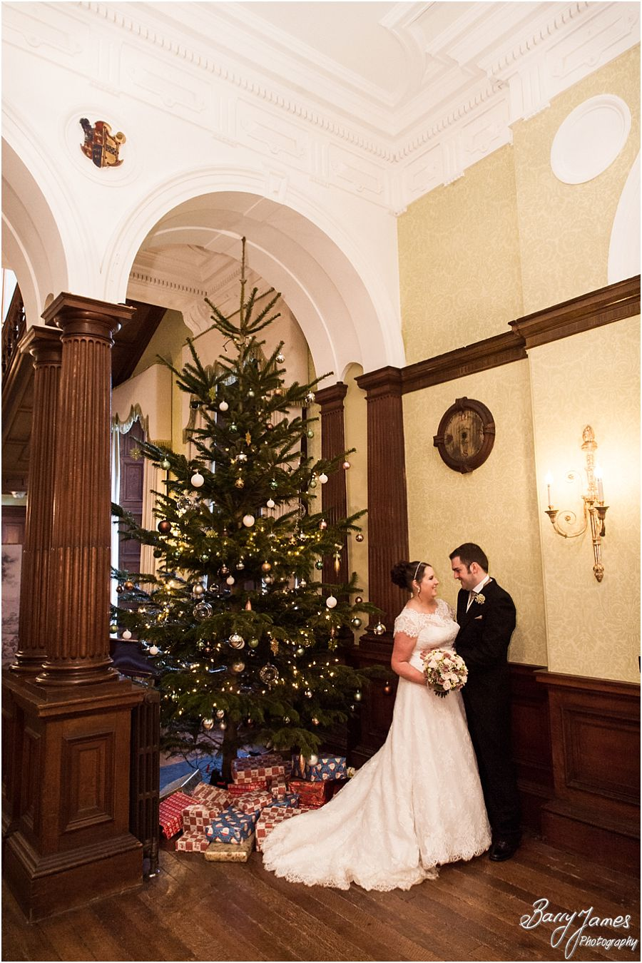 Warm and cosy Christmas Wedding at Sandon Hall in Stafford by Staffordshire Wedding Photographer Barry James
