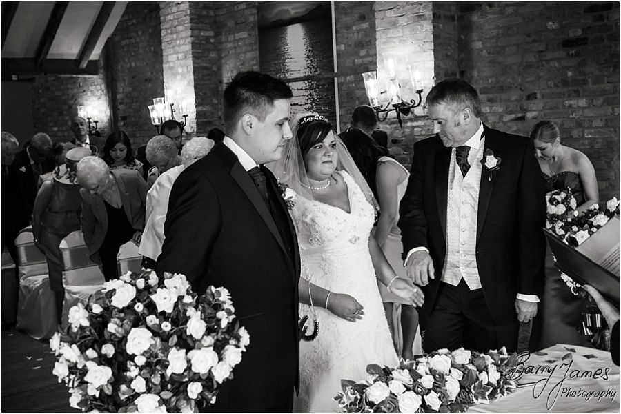 Capturing the emotion and story of the civil wedding at The Waterfront in Barton Marina by Burton-on-Trent Professional Wedding Photographer Barry James