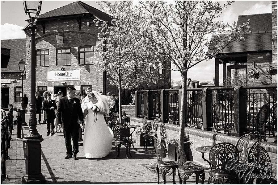 Contemporary wedding photographs outside at The Waterfront in Barton Marina by Burton-on-Trent Professional Wedding Photographer Barry James
